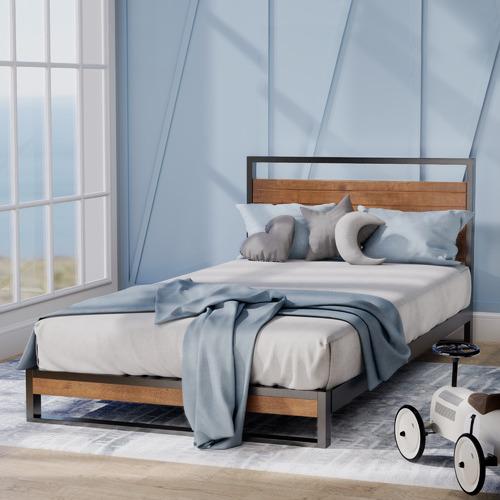 Houston Timber & Metal Platform Bed