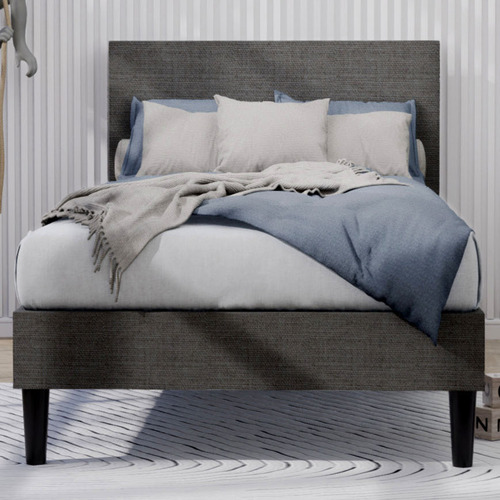 Single Laybell Fabric Kid's Bed with Headboard
