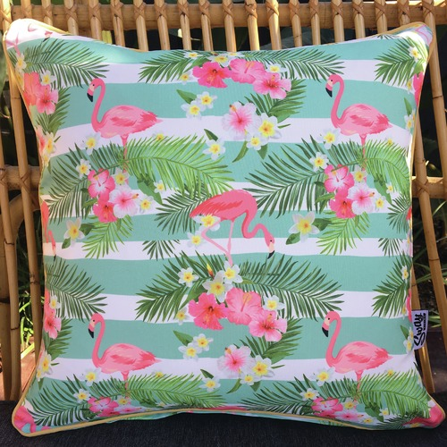Sway Living Flamingo Stripe Outdoor Cushion