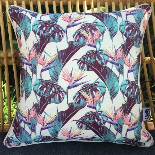 Bird of Paradise Outdoor Cushion
