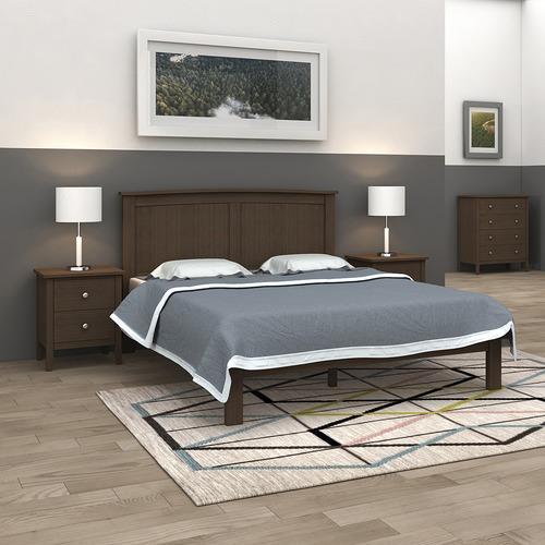 MYROOM Hampton Poplar Wood Bed Frame