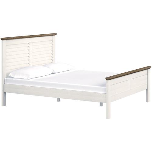 MYROOM White Monte Carlo Acacia Bed Frame