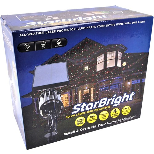 The Party Lights Shop Solar Laser Snow Projecting Christmas Lights