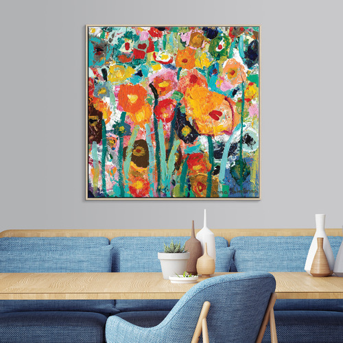Palette Poppies Canvas Wall Art