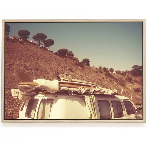 Elle Green Photo Malibu Surf Van Printed Wall Art