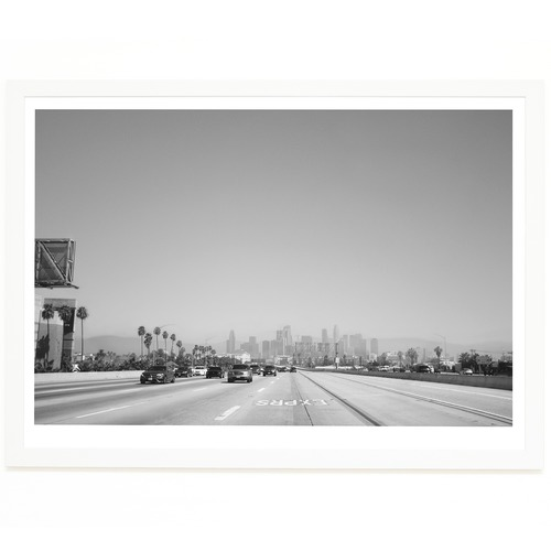 Elle Green Photo Downtown LA Expressway Printed Wall Art