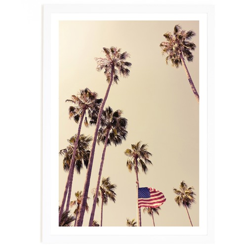 Elle Green Photo American Palms Printed Wall Art