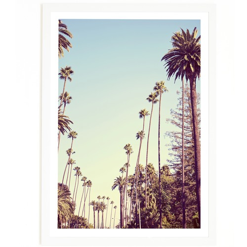 Elle Green Photo Beverly Hills Palms Printed Wall Art