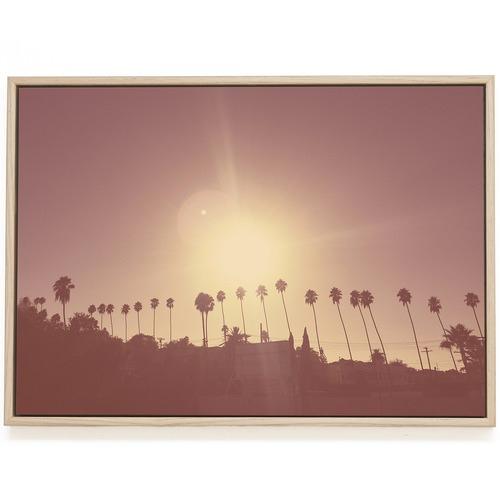 Elle Green Photo Silver Lake Palms Printed Wall Art