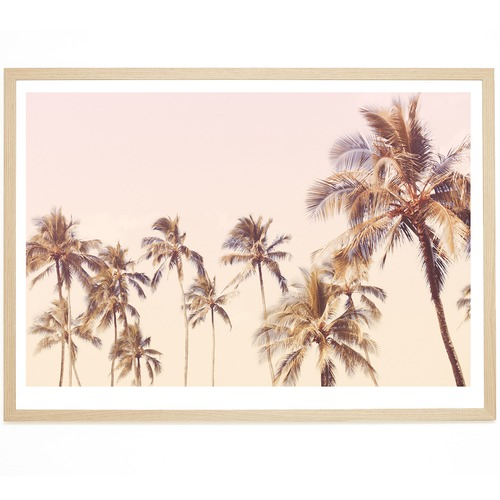 Elle Green Photo Haleiwa Palms Printed Wall Art