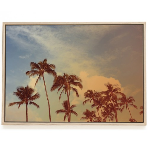 Elle Green Photo Tropical Palms Printed Wall Art