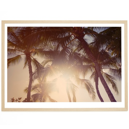 Elle Green Photo Waikiki Palms Printed Wall Art