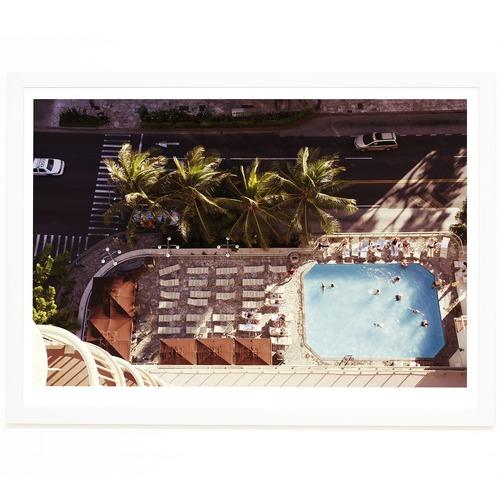Elle Green Photo Waikiki Pool Printed Wall Art