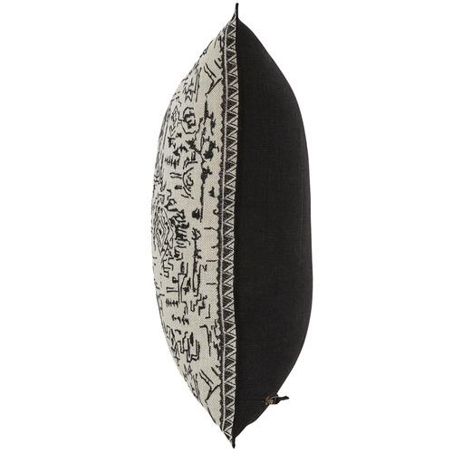 Weave Onyx Malbec Linen Cushion