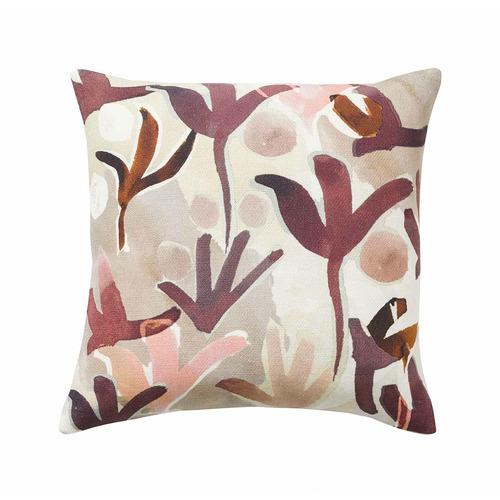 Berry Nopi Linen-Blend Cushion