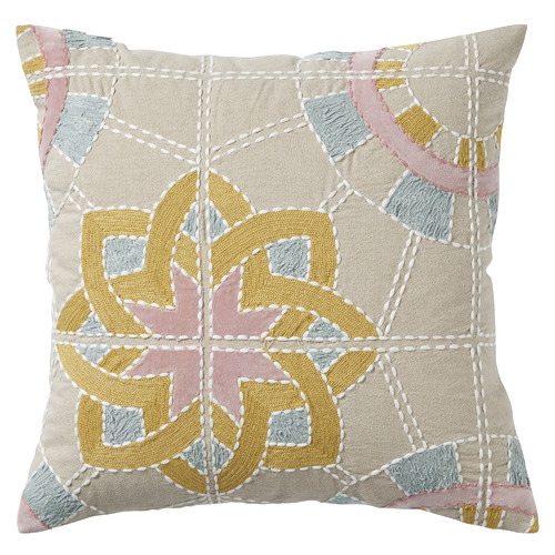 Caravelle Embroidered Cotton Cushion