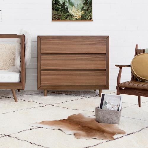 Ubabub Walnut Nifty Triple Drawer Dresser