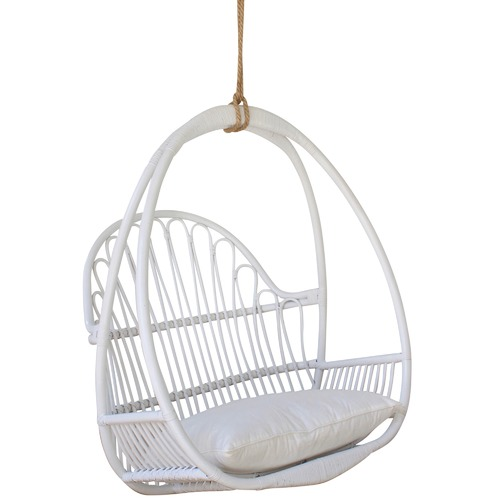 White Hawaii Hanging Chair Temple Webster