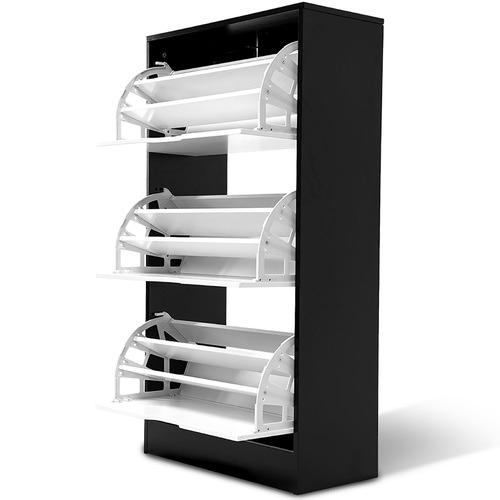 York street Kian 3 Drawer Shoe Cabinet