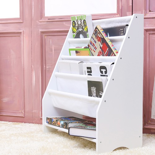 York street Callum Kids' Canvas Display Bookshelf