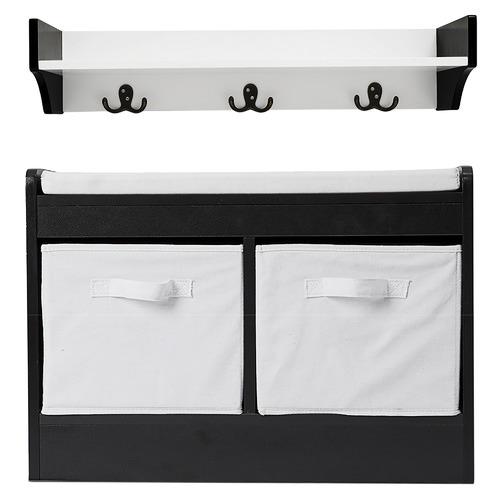 York street Kian Storage Bench & Wall Shelf Set