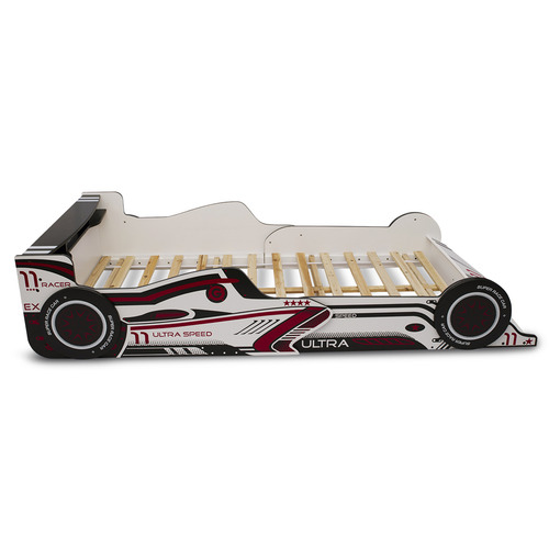 York street White High Speed Racing Car Bed Frame