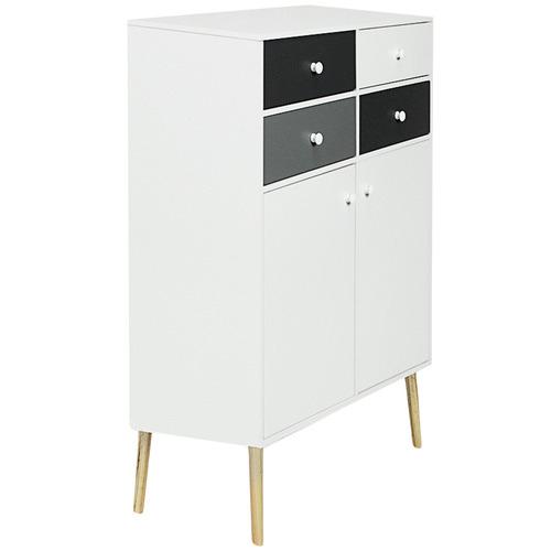 York street Monochrome Iverson Storage Cabinet