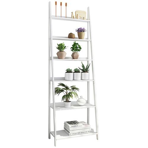 York street White Chole 6 Tier Ladder Shelf