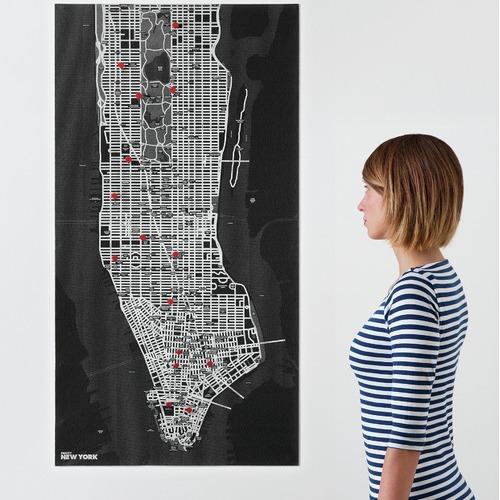 Palomar Pin City New York Felt Map