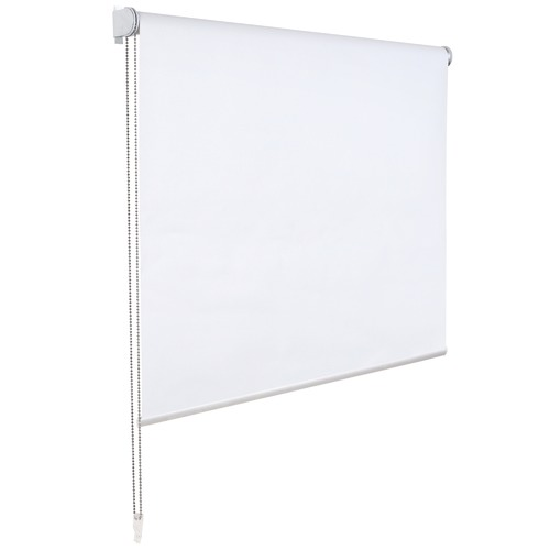 White Torquay Polyester Blockout Roller Blind
