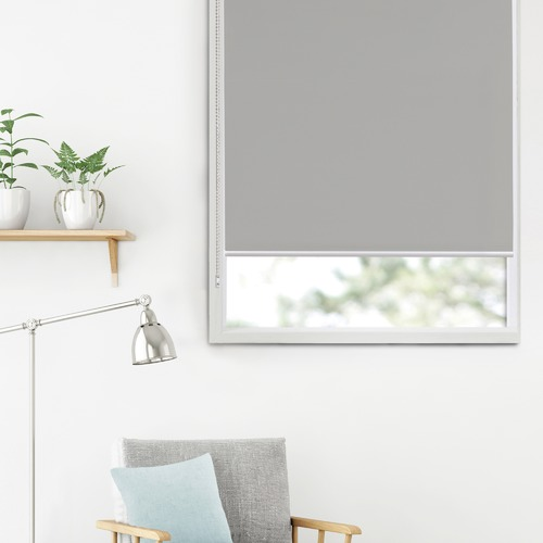 Stone Torquay Polyester Blockout Roller Blind