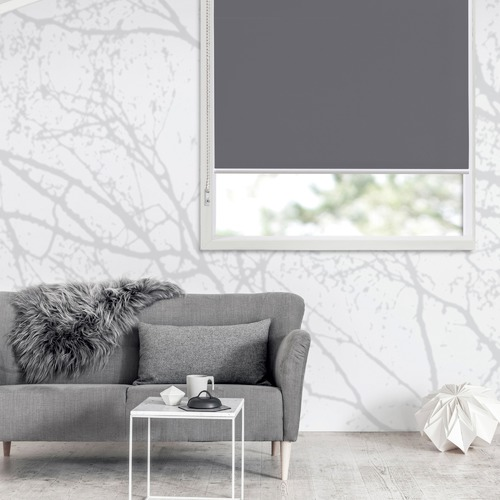 Window Solutions Charcoal Torquay Blockout Roller Blind