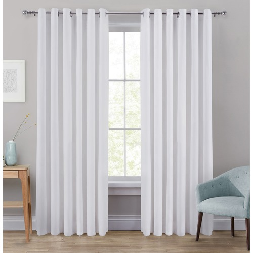 Window Solutions White Portland Eyelet Blockout Curtains