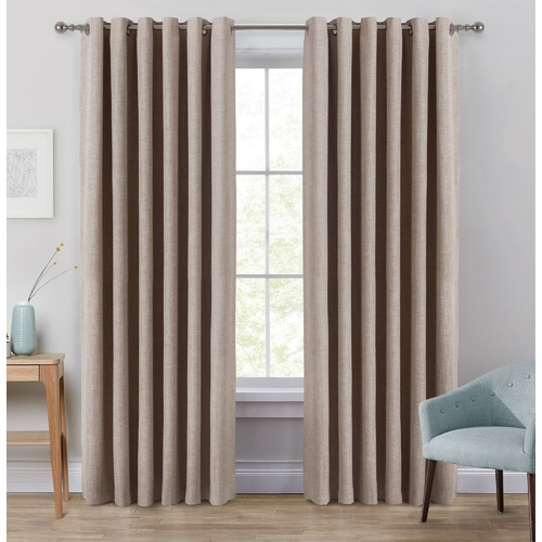 Window Solutions Linen Portland Eyelet Blockout Curtains
