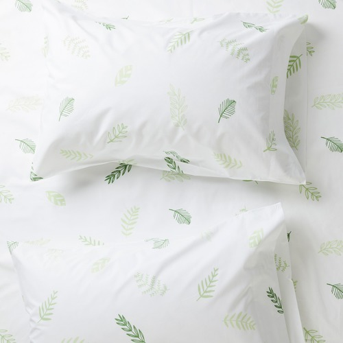 More Than Ever Leaf Me Breathless Cotton Standard Pillowcases