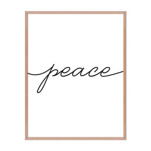 Artefocus Peace Framed Wall Art