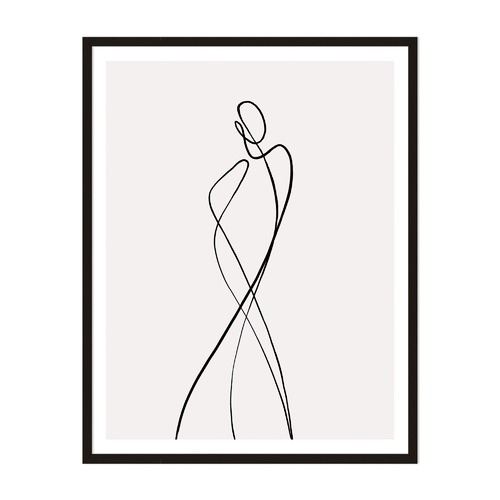 Artefocus Line Girl 1 Framed Wall Art