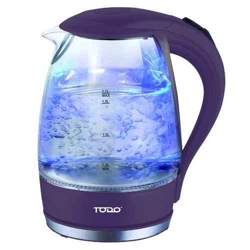 Todo 1.7L Cordless Removable Tea Infuser Glass Kettle
