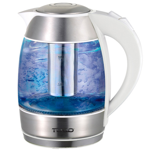 Todo 1.8L Cordless Removable Tea Infuser Glass Kettle