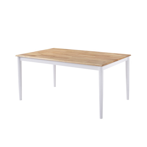 Nordic House Natural Ori Rubber Wood Dining Table