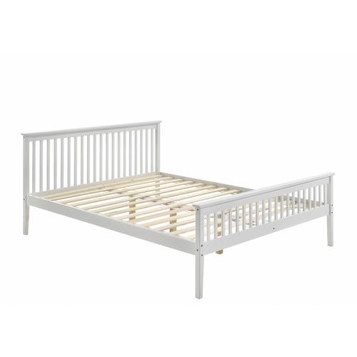 Nordic House White Emiko Pine Wood Bed Frame
