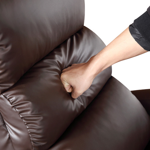 Nordic House Brown Millio Faux Leather Recliner Armchair