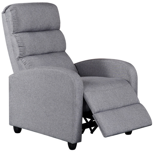 Nordic House Grey Millio Fabric Recliner Armchair