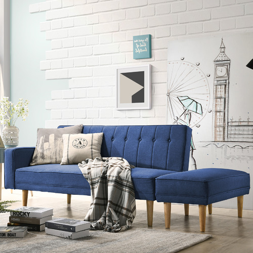 Nordic House Millio Sofa Bed with Ottoman