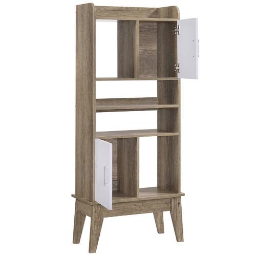 Nordic House Oak Scandi Wooden Display Cabinet