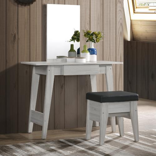 Nordic House White Wash Eve Dresser & Stool