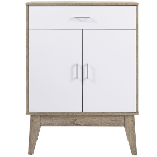 Nordic House Oak & White Scandi Shoe Cabinet