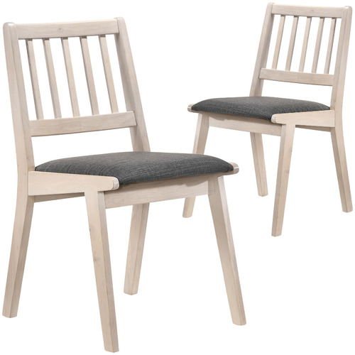 White Helga Wooden Dining Chairs Set Of 2