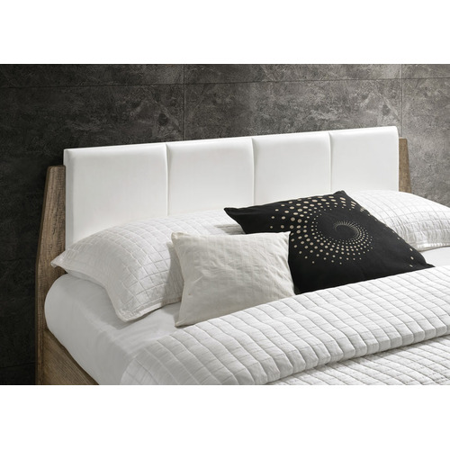 Nordic House White & Natural Scandinavian Inspired Bed