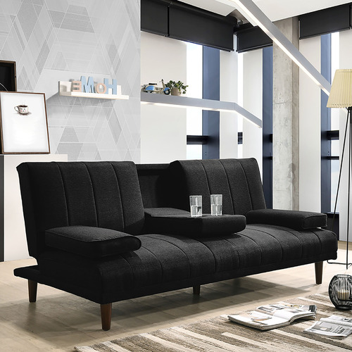 Copenhagen 3 Seater Sofa Bed with Cup Holder